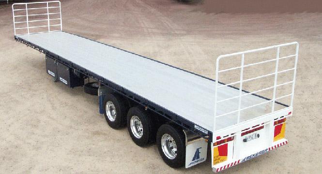 flat top semi-trailer